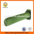 DIN975 Grade8.8 Full Thread rod Teflon Stud Blolt Green xylan Stud Bolt Fastener