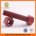 ASTM A193 B7 stud bolt with ASTM A194 2H nut